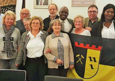 SPD-Rosenhügel in der Botschaft von Mali in Berlin