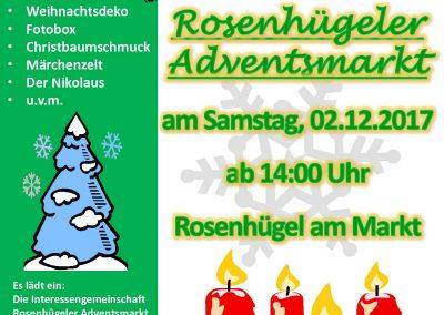 Plakat Rosenhügeler Adventsmarkt 2017
