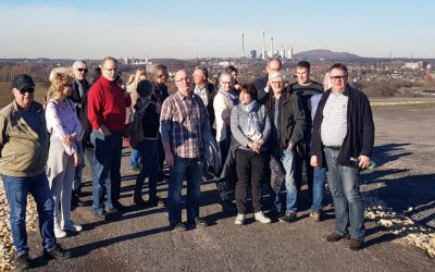 """""""Haldenspaziergang auf der Mottbruchhalde mit Bürgermeister Uli Roland"""""""