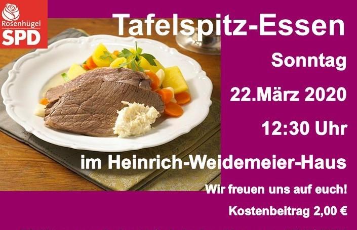 """""""Mittagstisch am 22.März: Es gibt Tafelspitz"""""""