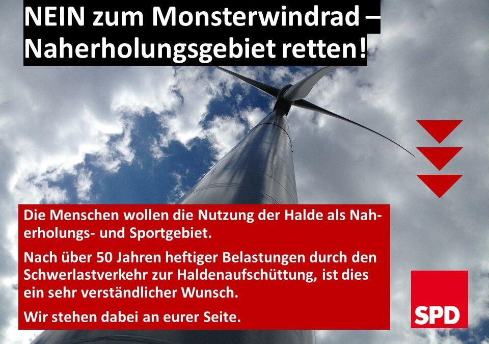 Nein zum Monsterwindrad – Naherholung retten!