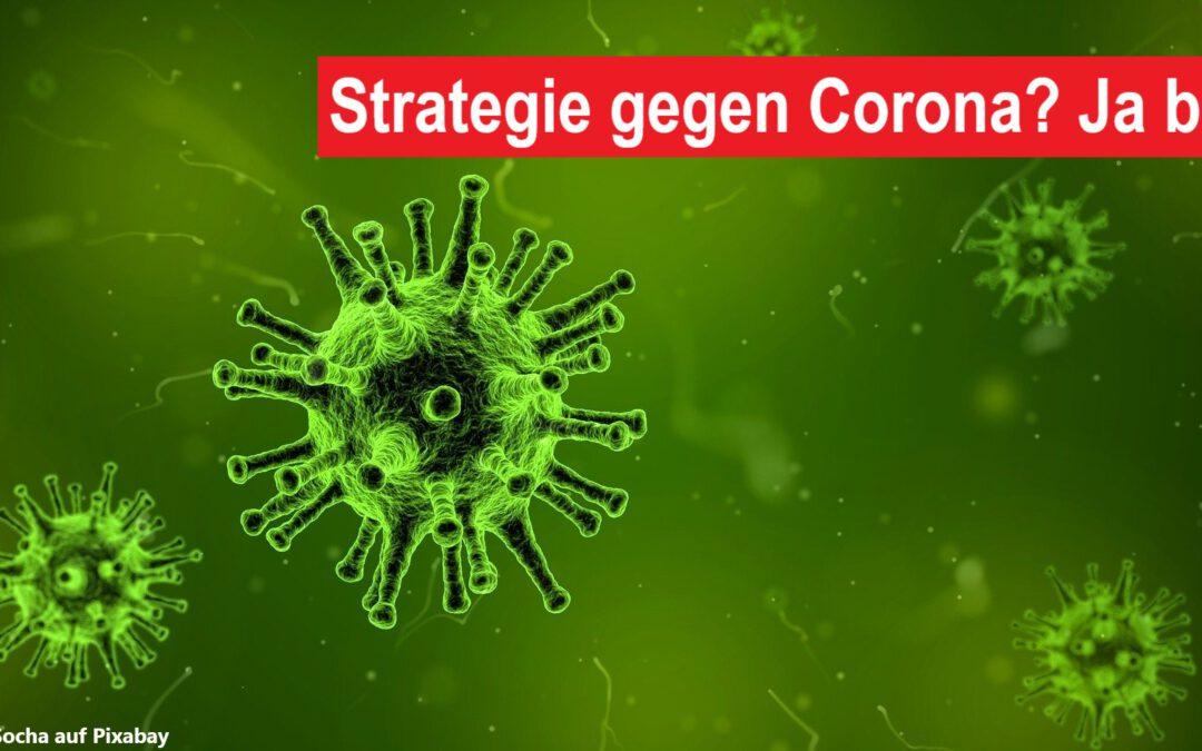 Strategie gegen Corona? Ja bitte! – ein Kommentar