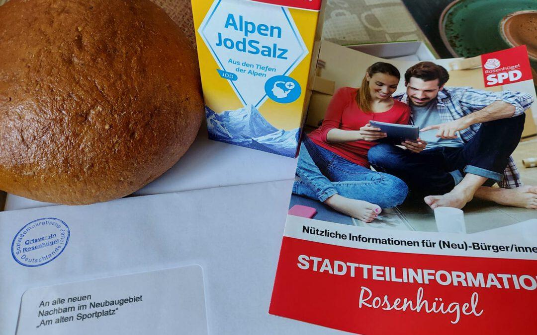 "Neubürgerinnen und Neubürger im Neubaugebiet ""Am alten Sportplatz"" begrüßt"