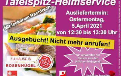 """""""Mittagstisch- Heimservice am Ostermontag ist ausgebucht"""""""