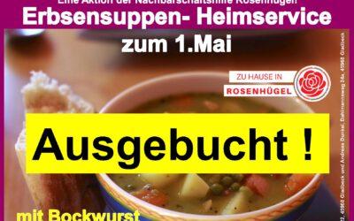 """""""Mittagstisch- Heimservices zum 1.Mai und zum Vatertag am 13.Mai sind ausgebucht"""""""